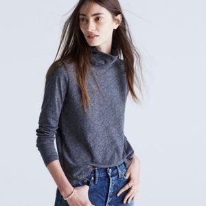 XS Madewell Whisper Cotton Dark Grey Turtleneck